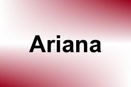 Ariana name image