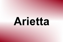 Arietta name image