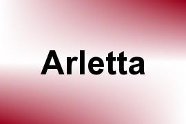 Arletta name image