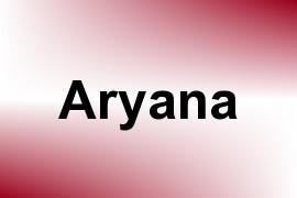 Aryana name image
