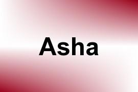 Asha name image