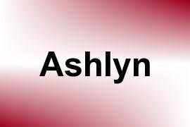 Ashlyn name image