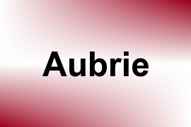 Aubrie name image