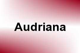 Audriana name image