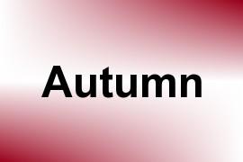 Autumn name image