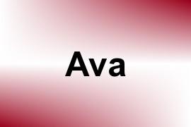 Ava name image