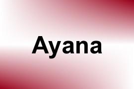 Ayana name image