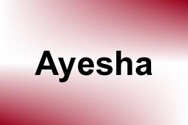 Ayesha name image