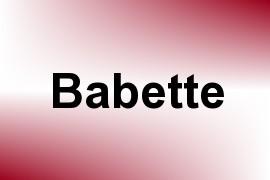 Babette name image