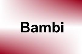 Bambi name image