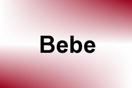 Bebe name image
