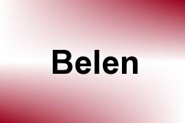 Belen name image