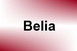 Belia name image