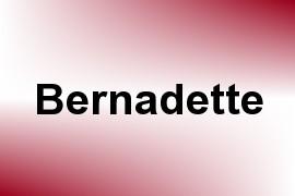 Bernadette name image