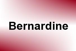 Bernardine name image