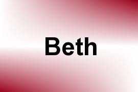 Beth name image