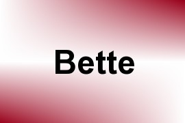 Bette name image
