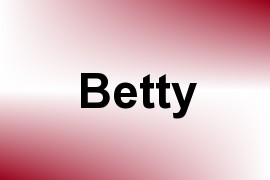 Betty name image