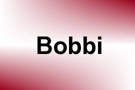 Bobbi name image
