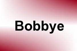 Bobbye name image