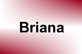 Briana name image