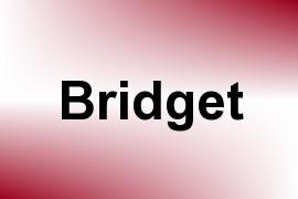 Bridget name image