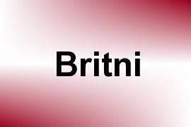 Britni name image