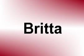 Britta name image