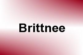 Brittnee name image