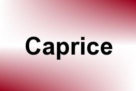 Caprice name image
