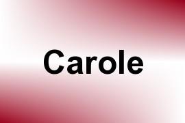 Carole name image