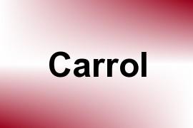 Carrol name image