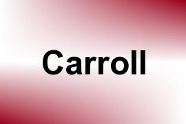 Carroll name image