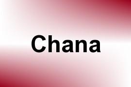 Chana name image