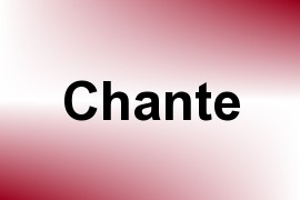 Chante name image