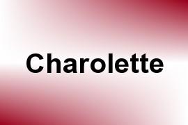 Charolette name image