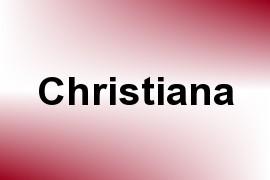 Christiana name image