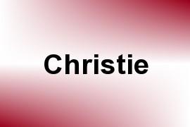 Christie name image