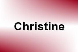 Christine name image
