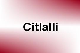 Citlalli name image