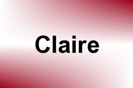 Claire name image
