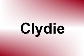 Clydie name image