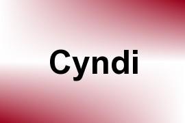 Cyndi name image