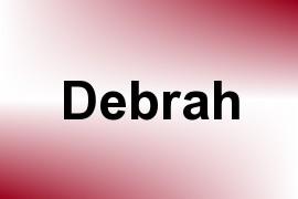 Debrah name image