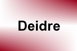 Deidre name image