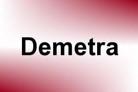 Demetra name image