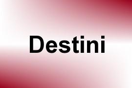 Destini name image