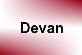Devan name image