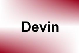 Devin name image