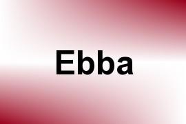 Ebba name image